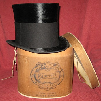 Victorian Era Silk Mourning Top Hat