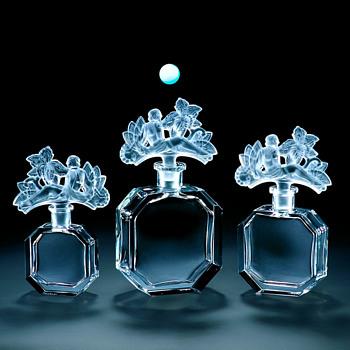 "Ingrid, Czecoslovakia, Flacon ""In The Garden"", Crystal Perfume Bottle"