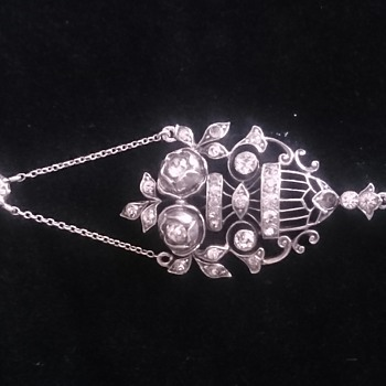 Edwardian lavalier paste necklace