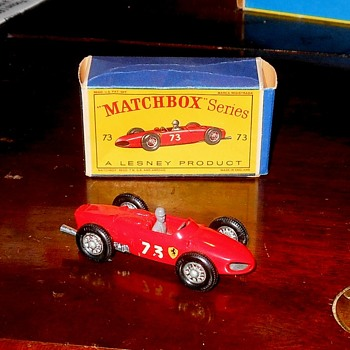 Matchbox 73B Ferrari Racing Car With D Box - Model Cars