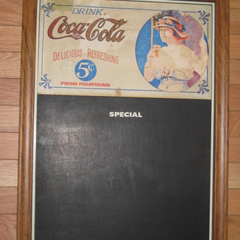 COCA COLA CHALKBOARD MENU SIGN 5 CENTS