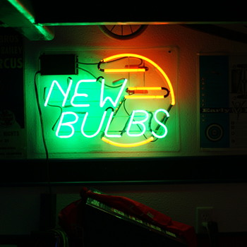"""New Bulbs"" neon - Signs"