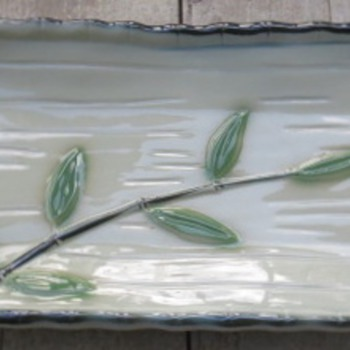 Japanese Serving Platter - Sushi Tray - Art Pottery