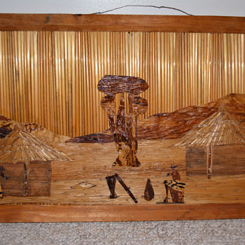 Wood and Straw Folk Art