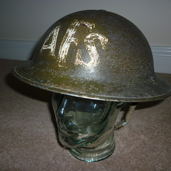 British WW11 Auxiliary Fire Service steel helmet. - Military and Wartime