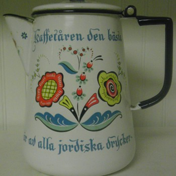 Grandma Van Heuklon's coffee pot (miss you granny)