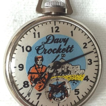 1955 Davy Crockett Pocket Watch