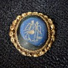 Gold brooch 10th century above the 22 karaat