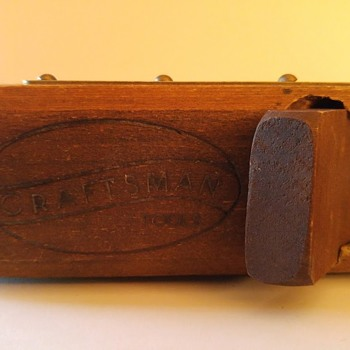 Vintage Craftsman wooden plane