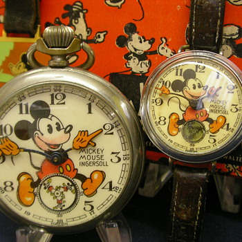 1936 Mk II English Mickey Mouse Pocket & Wrist Watch - Wristwatches