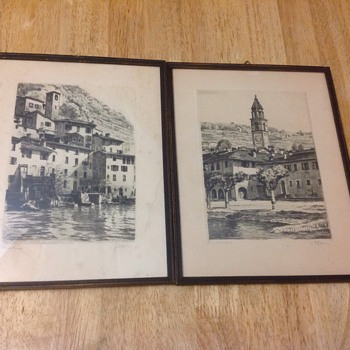2 small art prints pencil