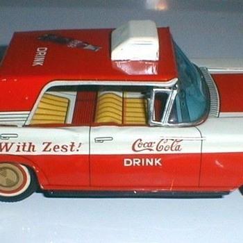 1960's taiyo Japan friction Coca-Cola car