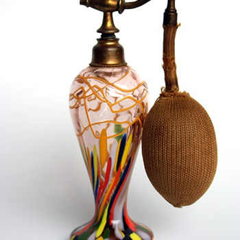 Kralik? Czech Perfume Atomizer - Art Glass
