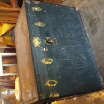 Antique OshKosh Trunk  - Furniture