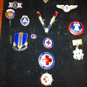 Some of my WWII enameled items - Costume Jewelry