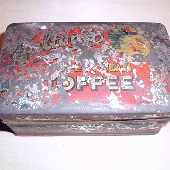 Old looking Toffee tin. - Advertising