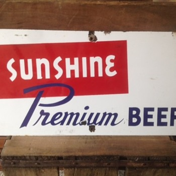Small Sunshine Porcelain Sign - Breweriana