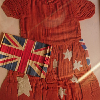 Child's Flag Dress circa WW2 - Womens Clothing