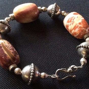 Silver & stone bracelet