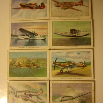 WINGS CIGARETTES MODERN AMERICAN AIRPLANE TRADING CARDS - Cards