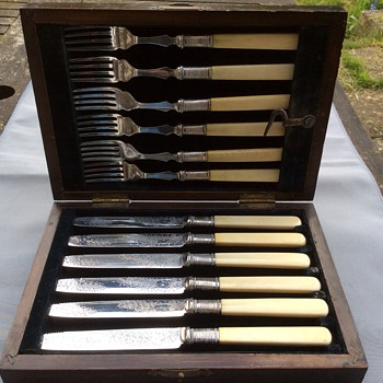 Antique silver cutlery