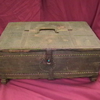 Very Old Decorated Wooden Box