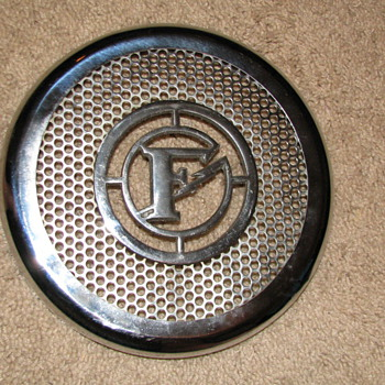 Federal Siren, Chrome Front Cover, F.D. - Firefighting