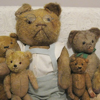 My Early Mohair Straw Stuffed Bears - Dolls