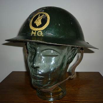 Scarce British WWII Home Guard steel helmet - Military and Wartime