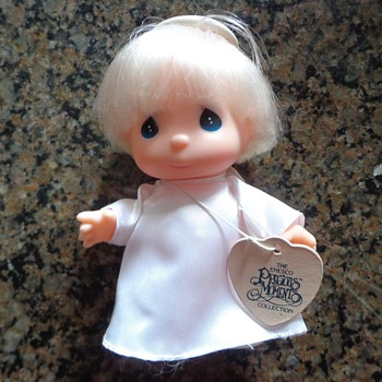 "Enesco 1990 PRECIOUS MOMENTS Collection HI BABIES 5"" ANGEL DOLL Blonde Toy"