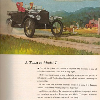1953 - Budd Co. / Model T Ford Advertisement - Advertising