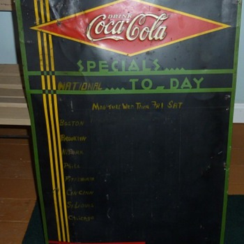 Coke Daily Specials Tin Signs