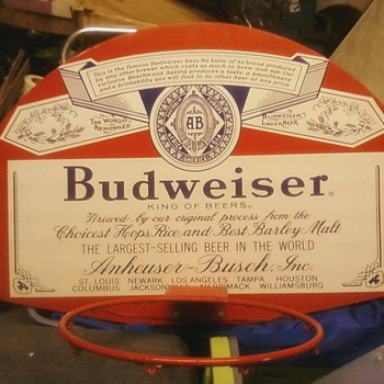 Budweiser Basketball Backboard full size new never used 1971  - Breweriana