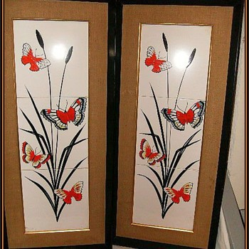 1960's -- Vintage Tile Pictures ( Pair )