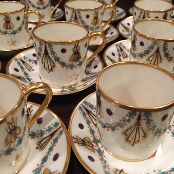 French Porcelain Demitasse Set