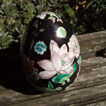 My porcelain and enamel egg - Asian