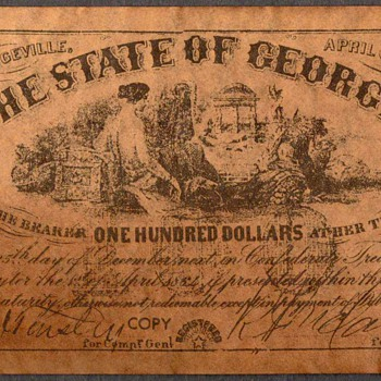 Confederate Currency - Novelty Note (Georgia)