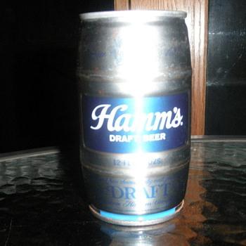 Hamm's Keg-shaped can - Breweriana