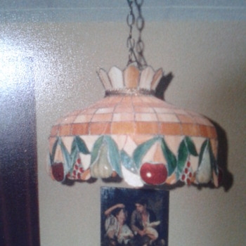 Tiffany Ceiling Lamp with heart 'signature' in crown
