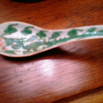 Asian  handpainted Dragon Spoon