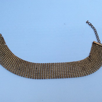 Antique mesh choker necklace
