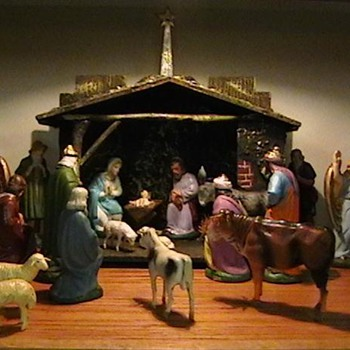 1920's-1930's Creche - Christmas