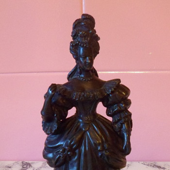 Ornate Detailed Female Bronze Figure Mounted On A Marble Base