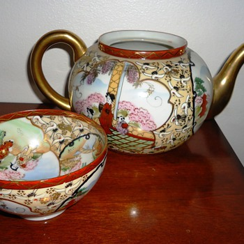 Asian Tea Pot and Tea Cup