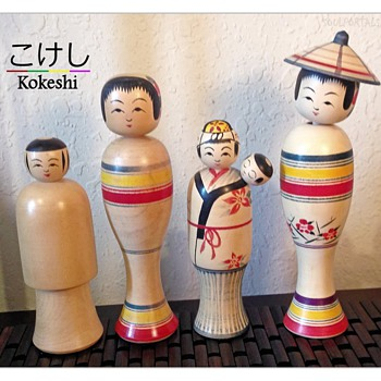 Some of my Favorite Nanbu Kokeshi by Kakuhei Sasaki - Dolls