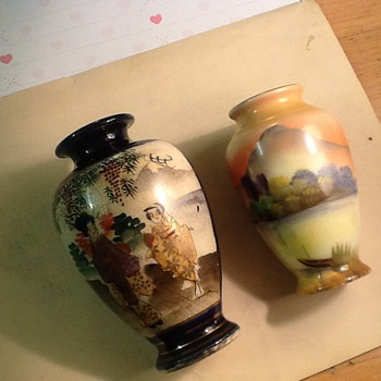 2 individual oriental/Chinese vases
