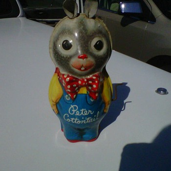 Peter Cotton Tail Tin Toy