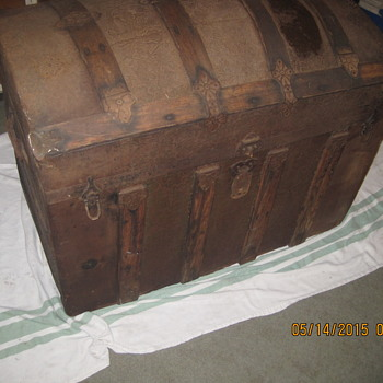 Looking for information on this old trunk I found.  And would like to know how to restore and preserve. - Furniture