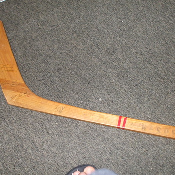 1954 toronto maple leafs signed stick - Hockey