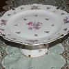Reichenbach German Porcelain Pedestal Cake Plate